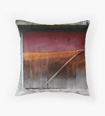 Plywood Window Throw Pillow