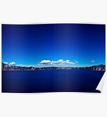 Crater Lake sky Poster