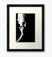 Childs thought Framed Print