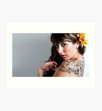 Tattoo flower Art Print