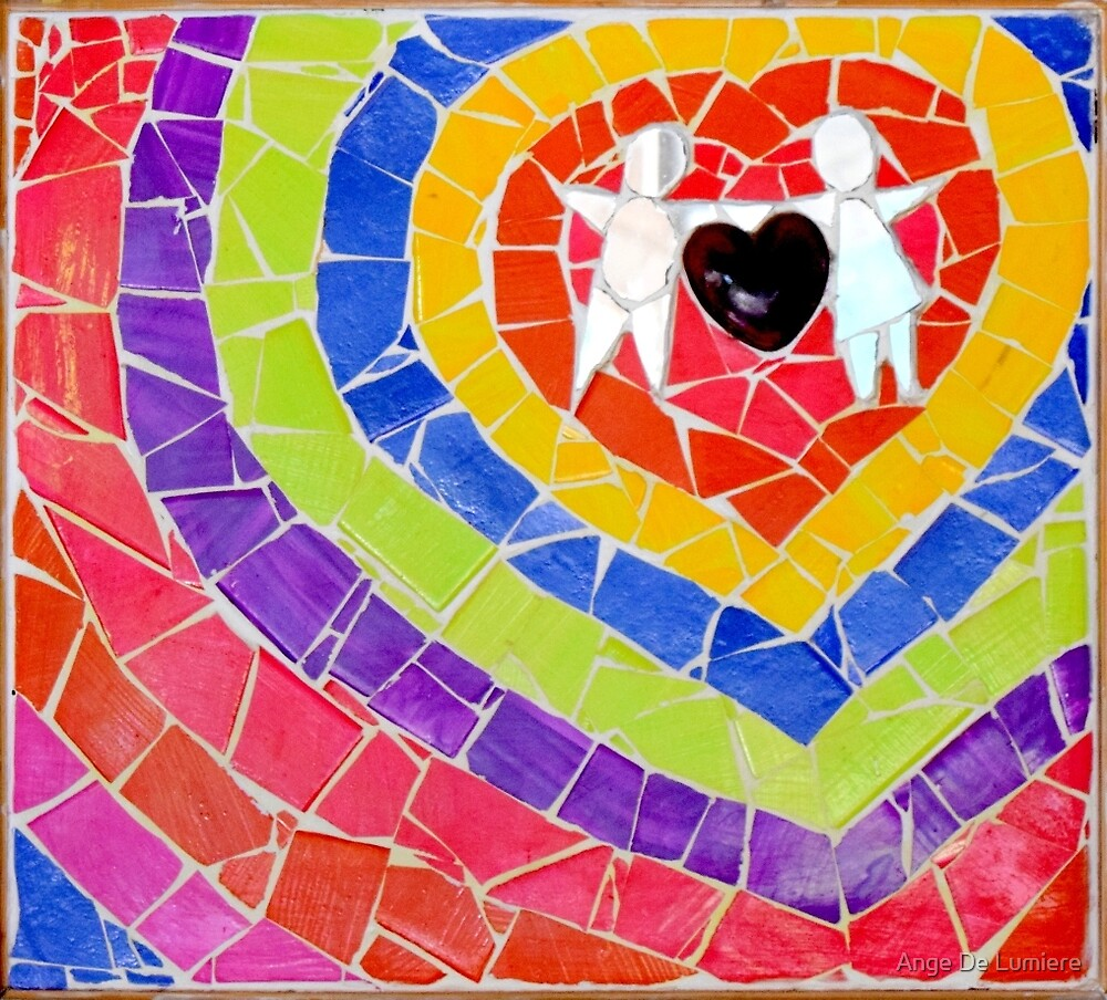 Rainbow heart by MosaicDreamer