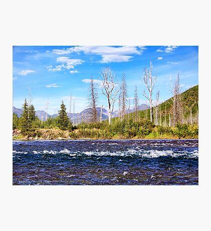View into Glacier National Park (Montana, USA) Photographic Print