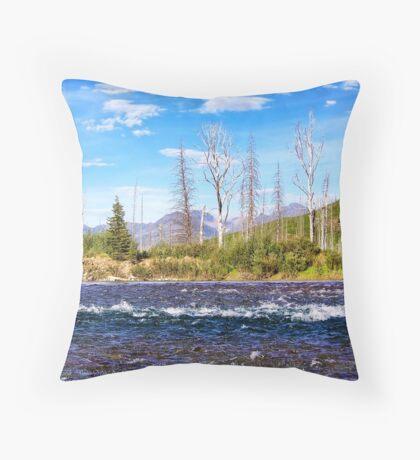 View into Glacier National Park (Montana, USA) Throw Pillow