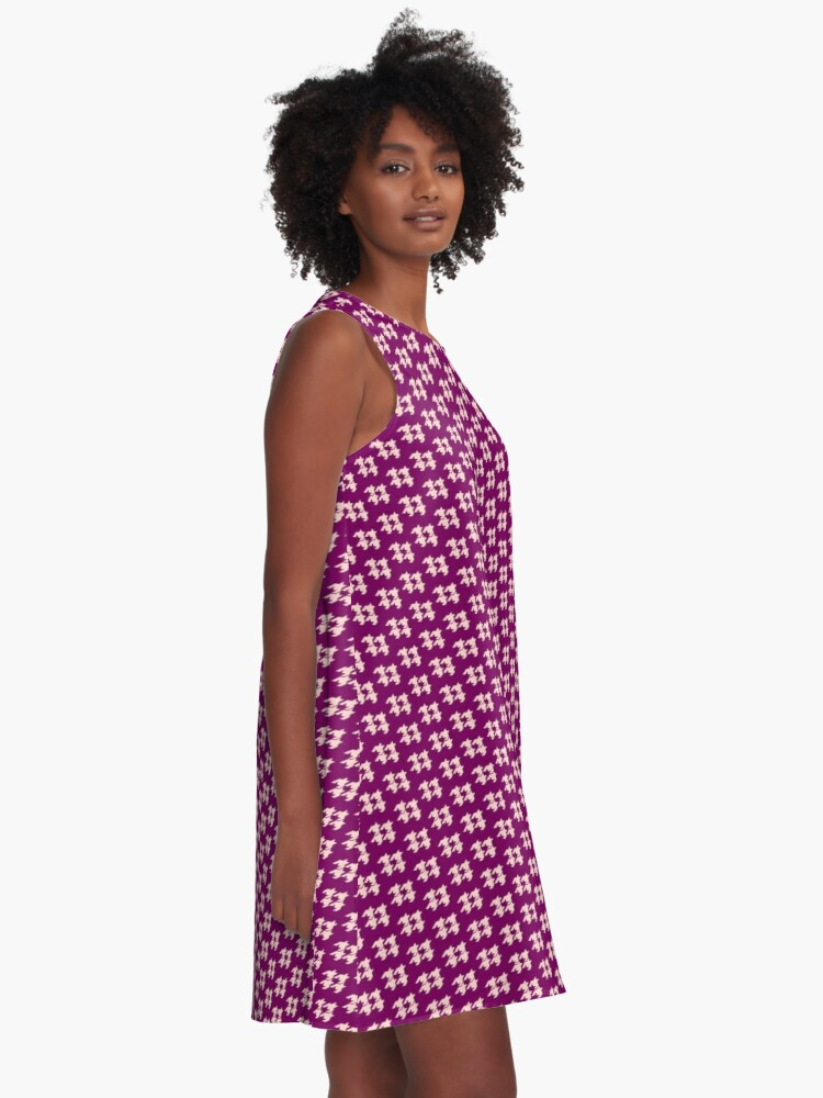 Alternate view of Houndstooth pattern A-Line Dress