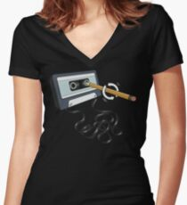 Back in the Day Women's Fitted V-Neck T-Shirt