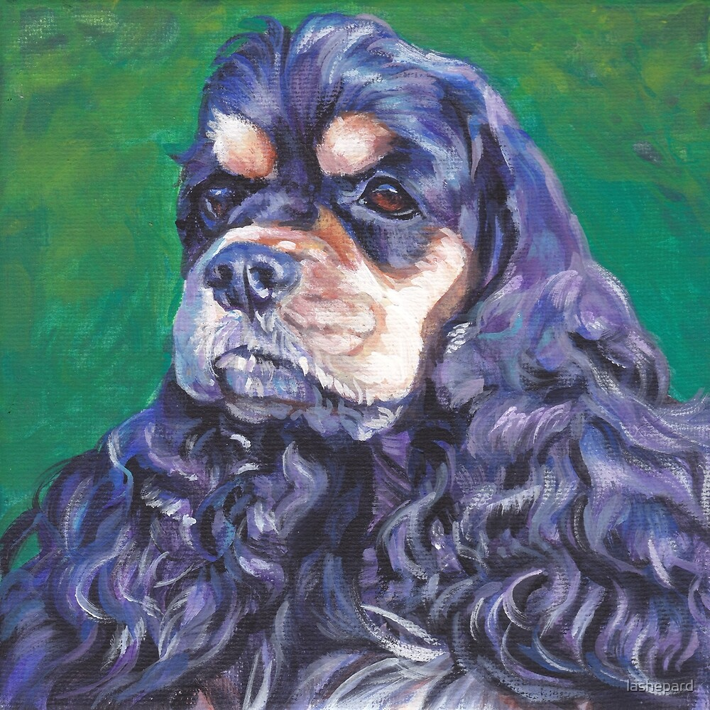 American Cocker Spaniel Fine Art Painting by lashepard