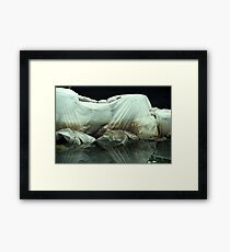 Plastic Rock Water Framed Print