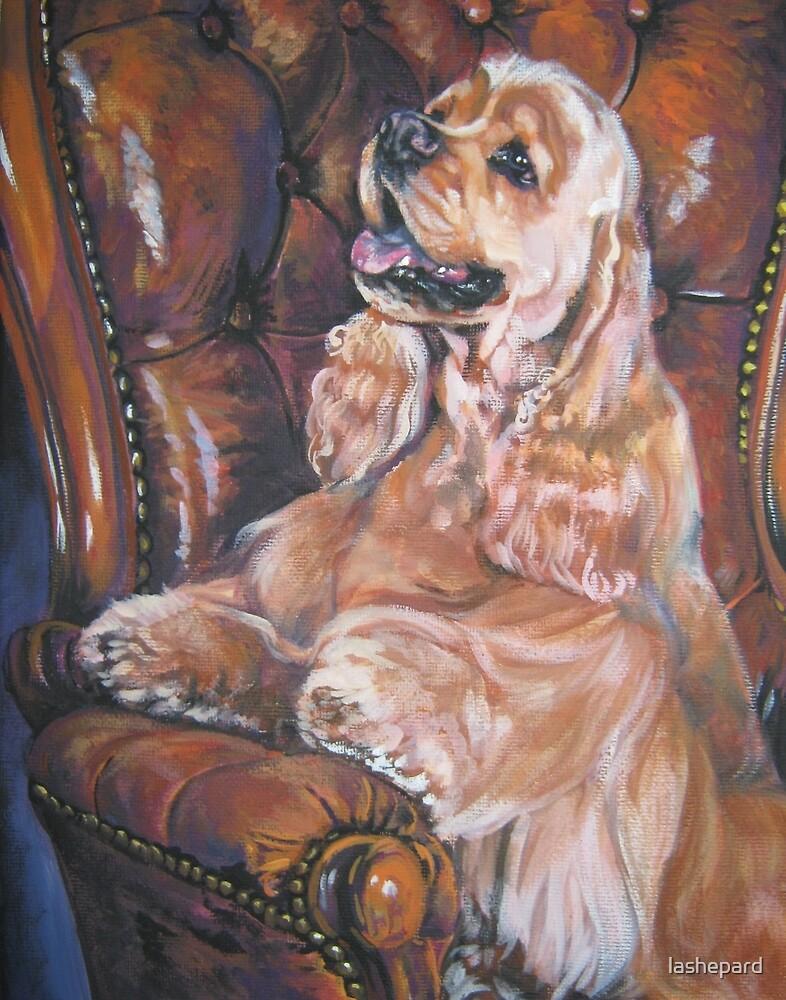 American Cocker Spaniel Fine Art Painting by lashepard