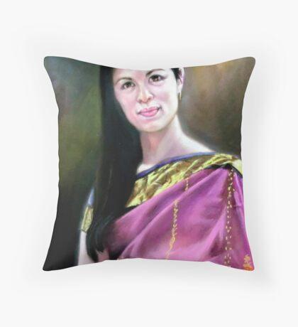 portrait of Jo-anne Throw Pillow