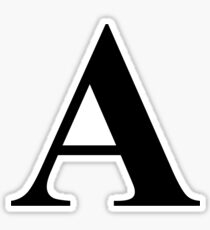 The Letter A in Black Times New Roman Serif Font Typeface Sticker