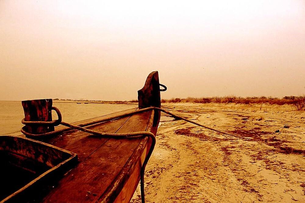 Old fish-boat. Baltic Sea by johanlb