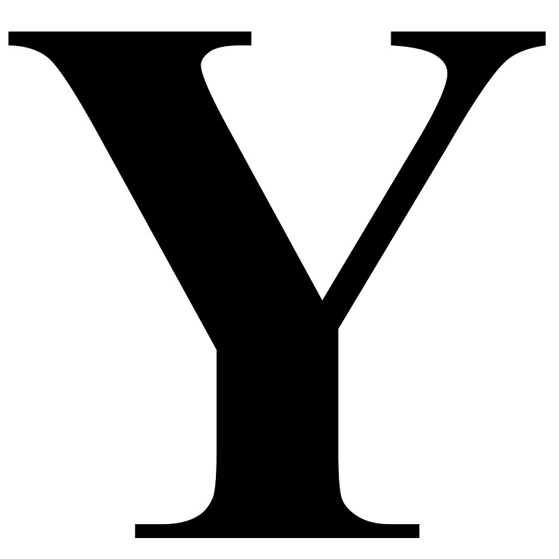 The Letter Y in Black Times New Roman Serif Font Typeface