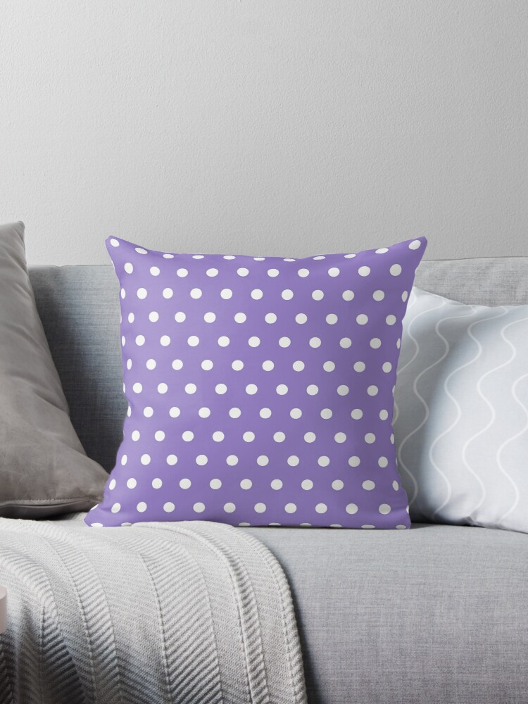 Small White Polka Dots on Lavander background by ImageNugget