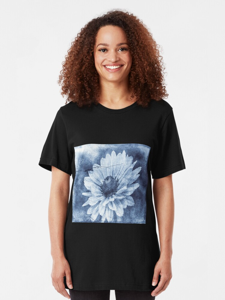 Alternate view of If Daisies Wore Blue Jeans  Slim Fit T-Shirt