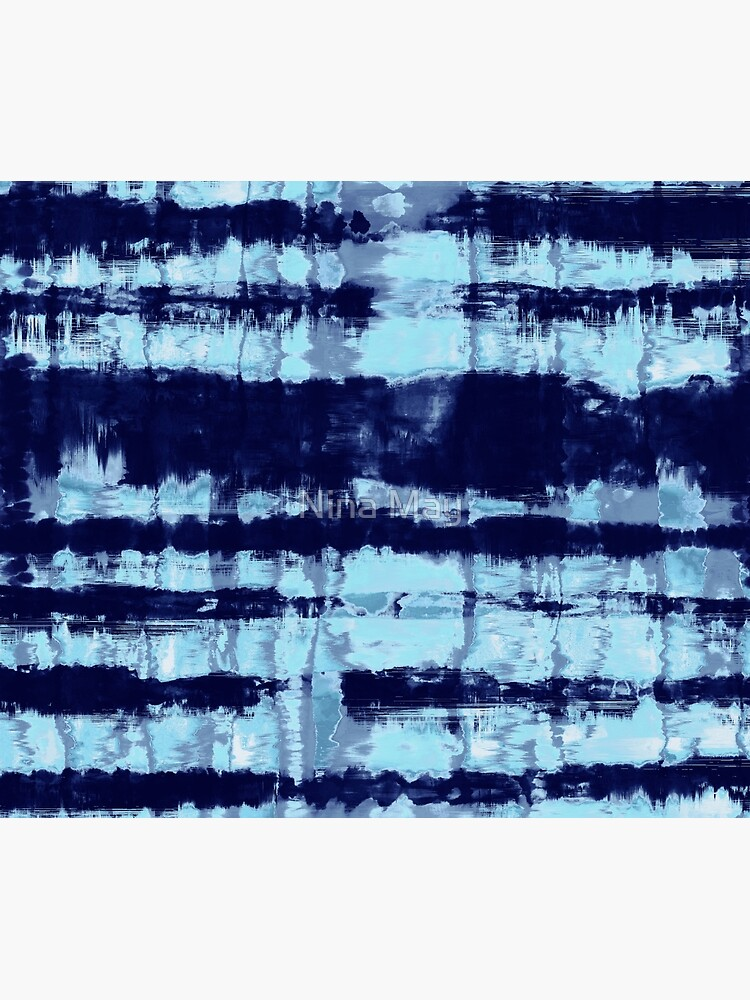 Tie-Dye Shibori Stripe Blues by ninabmay