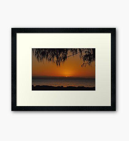 Scarborough Sunset Framed Print