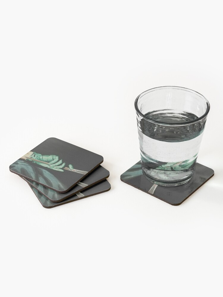 Alternate view of art scalpel  Coasters (Set of 4)