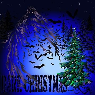 Dark Christmas Tree and Bats by NataliSven