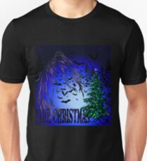 Dark Christmas Tree and Bats T-Shirt