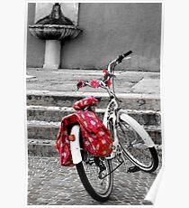 Una bicicletta a Riva del garda Poster