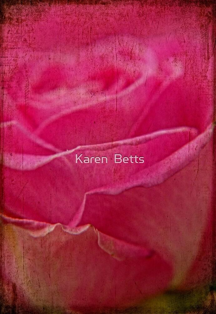 Grunge Rose by Karen  Betts