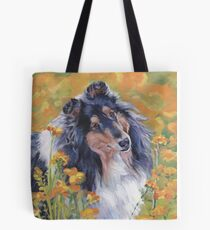 Collie Fine Art Painting Tote Bag