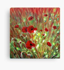 Poppies  Acrylic 16x16 Canvas Print