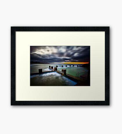 Ross Jones Memorial Pool, Coogee Beach Framed Print