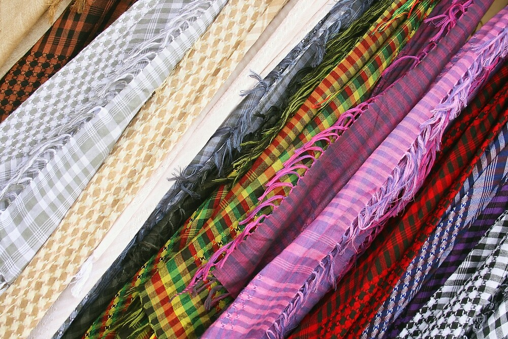 Scarves at the Market by rhamm
