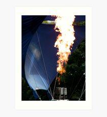 The Flame....Strathaven Balloon Festival, Scotland Art Print