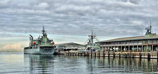 HMAS Sirius at Station Pier by Steven  Agius