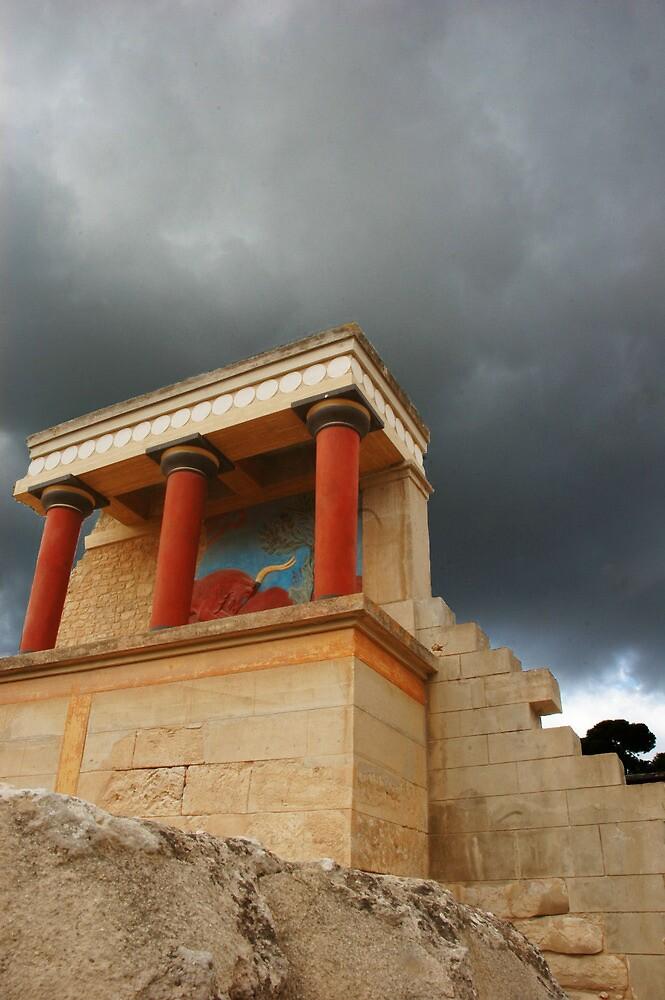 Storm over Knossos by Quixotegraphics