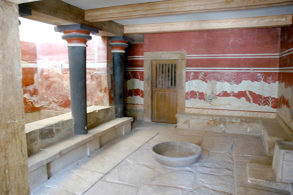 Knossos: Antechamber of the Throne Room by Quixotegraphics