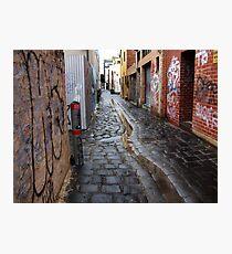 wet laneway Melbourne Australia Photographic Print