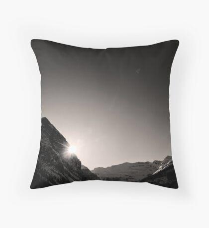 Shine Upon Lake Louise Throw Pillow