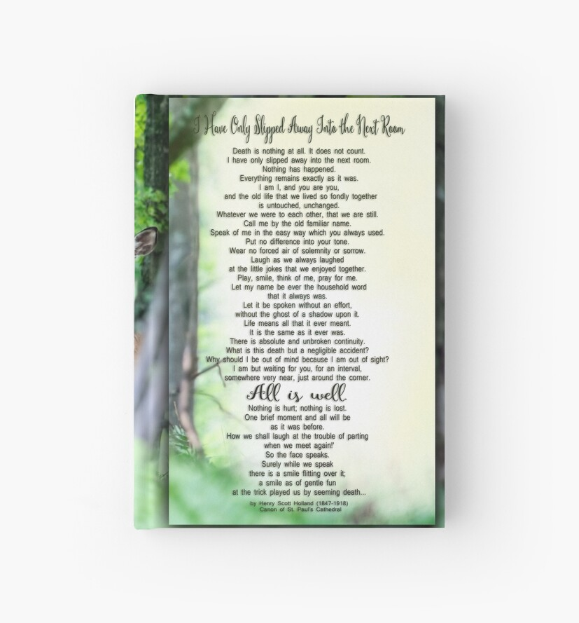 I Have Only Slipped Away Bereavement Print by ginkelmier