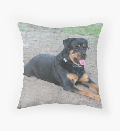 Good Dog Zeke Throw Pillow