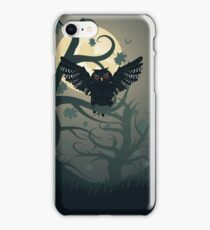 Owl in the Night Forest 2 iPhone Case/Skin