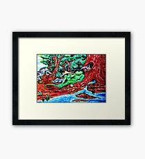 Lounge Lizard Framed Print