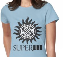 SUPERWHO LOGO RASSILON AND PROTECTION TATTOO Womens Fitted T-Shirt