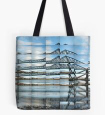 Connel Bridge Reflected Tote Bag