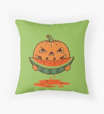 PUMPKIN AND WATERMELON Throw Pillow