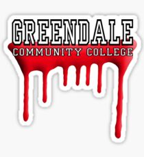 Community - Greendale Paintball Red Sticker