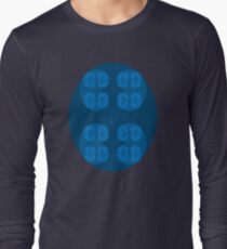 Golden Spiral Fractal Pattern - Blue Long Sleeve T-Shirt