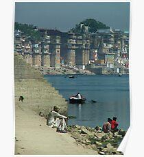 Peaceful Place Varanasi Ghats Poster