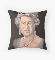 Queen Elizabeth II Throw Pillow