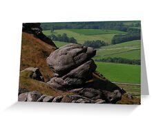 Barden Moor Rock - Lower Wharfedale Greeting Card