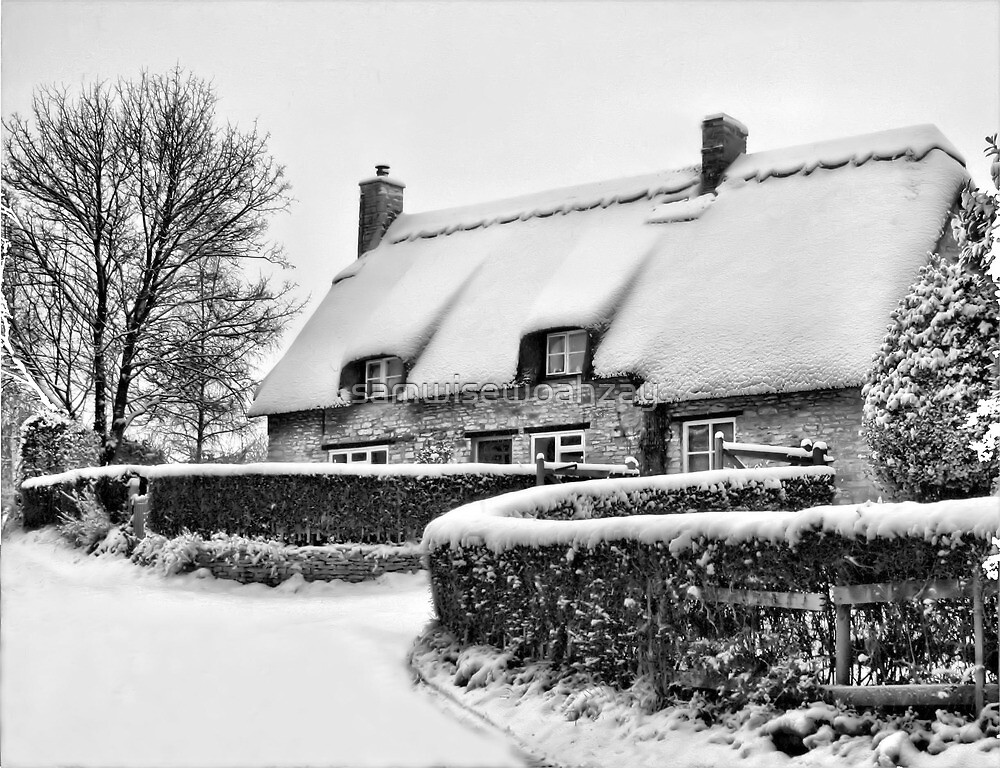 Winter Cottage by samwisewoahzay