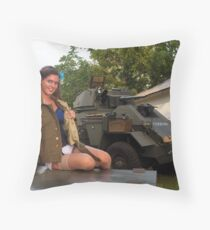 Michelle and the Humber Throw Pillow