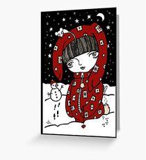 Lumi Mies Greeting Card
